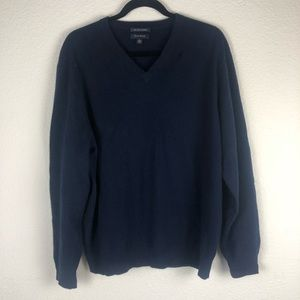 Club Room navy 100% cashmere sweater size large